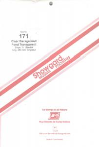 SHOWGARD CLEAR MOUNTS 264/171 () RETAIL PRICE $14.95