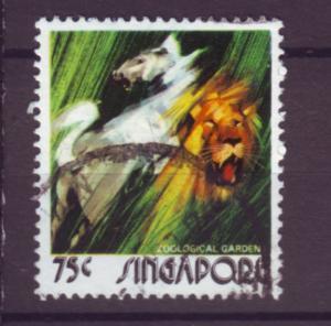 J21389 Jlstamps 1973 singapore hv of set used #205 horse/lion