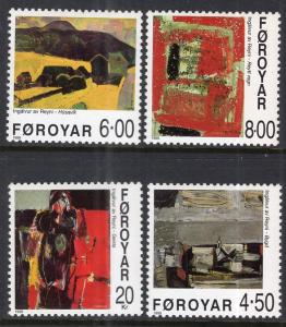 Faroe Islands 364-367 Paintings MNH VF