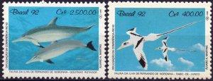 Brazil. 1992. 2455-56. Dolphins birds. MNH.