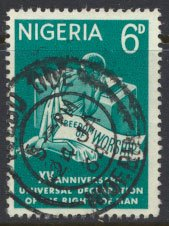 Nigeria  SG 142 Used 1961 Human Rights   please see scan