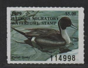 $US State Duck Stamps, Illinois Sc#5 M/NH/VF, Cv. $85