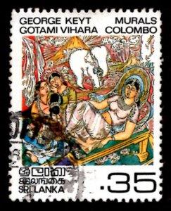 Sri Lanka 1983 Colombo Murals Buddhism Paintings 35c Scott.678 Used (#2)