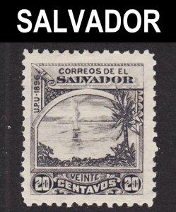 El Salvador Scott 166 wtmk 117 F+ mint OG H 1st issue.
