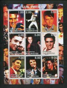 Tajikistan Commemorative Souvenir Stamp Sheet - Rock Legend Elvis Presley