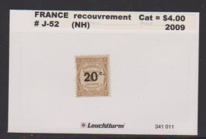 FRANCE #J-52 STAMP MNH LOT#F27