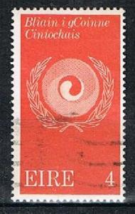 IRELAND 16677 - 1971 4p Racial Equality used single