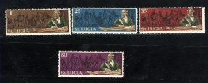 St. Lucia #278-281  Mint NH  1970  PD