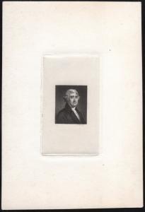 THOMAS JEFFERSON VIGNETTE DIE ESSAY ON INDIA PAPER, SUNK ON CARD HV8144
