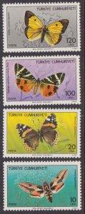 Turkey #2371-74 MH butterflies