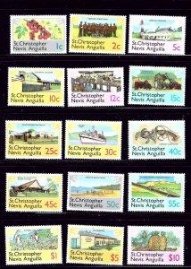 St Kitts-Nevis 355-69 MNH 1978 Definitive Set   #2