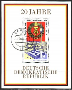 GDR. 1969. bl28. 20 years of the GDR. USED.