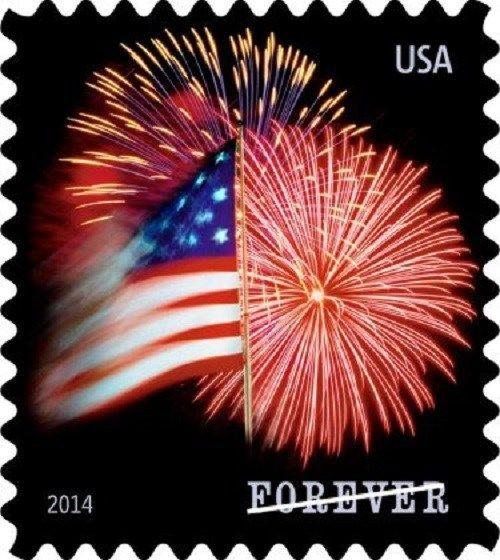 2014 49c Star-Spangled Banner, Fireworks Scott 4871a Mint F/VF NH