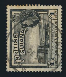 GUYANA / BRITISH GUIANA - 1956 - FORT WELLINGTON SKELETON DS ON SG331