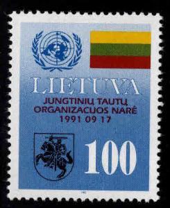 LITHUANIA LIETUVA Scott 421 MNH** 1992 Lithuania UN Flag