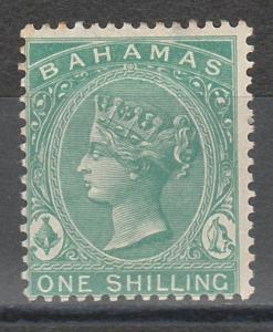 BAHAMAS 1882 QV 1/- WMK CROWN CA