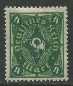 GERMANY. -Scott 179- Definitives -1921- MH - Wmk 126 - Single 4m Stamp