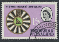 Rhodesia & Nyasaland  SG 49 SC# 190  Used Men's Service Clubs see scan and d...