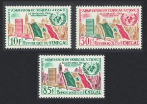 Senegal 1st Anniversary of Admission of Senegal to UNO 3v SG#245-247