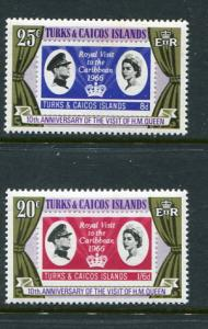 Turks % Caicos Is #315-6 Mint