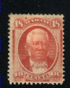 Hawaii 34   Mint HH 1864-86  PD