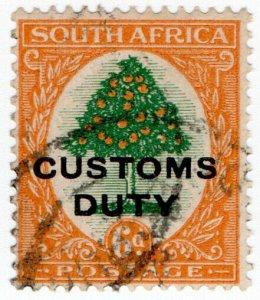 (I.B) South Africa Revenue : Customs Duty 6d
