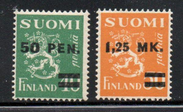 Finland Sc 195-6 1931 overprinted stamp set mint NH