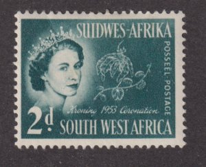 South West Africa 245 Queen Elizabeth II and Flowers 1953