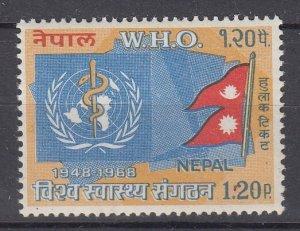 J28750,1968 nepal set of 1 mnh #210 WHO