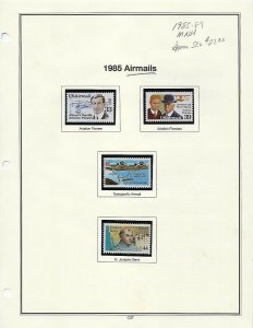 1985-1989 3 ALBUM PAGES OF MNH SINGLES - SCV $27.00+  - W46