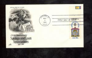 1911 FDC Savings & Loan Associations (Free Shipping)