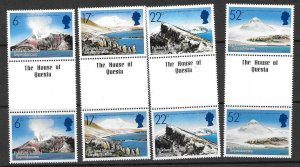 FALKLAND IS.DEP. SG121/4 1984 VOLCANOES IN GUTTER PAIRS MNH