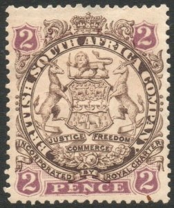 RHODESIA-1896-97 2d Brown & Mauve Sg 30 AVERAGE MOUNTED MINT V37874