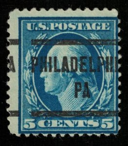 USA, 5 cents, George Washington, overprin: PHILADELPHIA PA (3220-Т)