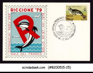 ITALY - 1979 RICCIONE '79 SPECIAL CARD WITH SPECIAL CANCL.