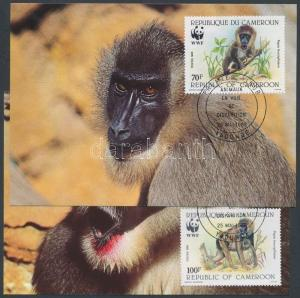 Cameroon stamp WWF Drill set CM Cover 1988 Mi 1155-1158 WS147061