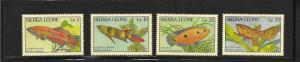 FISH - SIERRA LEONE #959-962  MNH