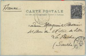 67321 -  FRENCH COLONIES: Indochine - Postal History - POSTCARD from LAOKAY 1901