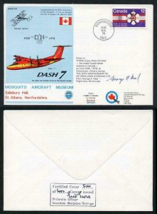 MAMS4 50th Ann of the formation of De Havilland Aircraft of Canada Pilot Signed