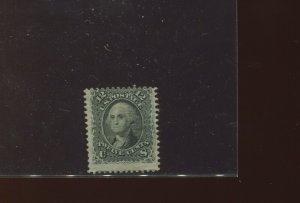 Scott 97 Washington F-Grill  Unused Stamp with APS Cert (Stock 97-2)