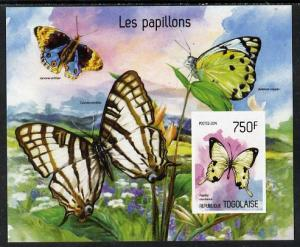 Togo 2014 Butterflies imperf s/sheet B - unmounted mint