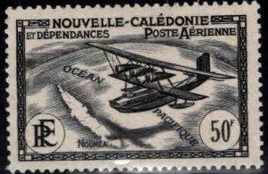 New Caledonia (NCE) Scott C6 Seaplane MH * airmail stamp