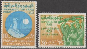 Iraq #248-9  MNH F-VF (SU125L)