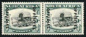 South Africa SGO28 5/- Black and Blue Green (18-19mm) Superb M/M