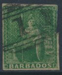 Barbados SG 8 SC# 5 Used spacefiller  please see scans and details