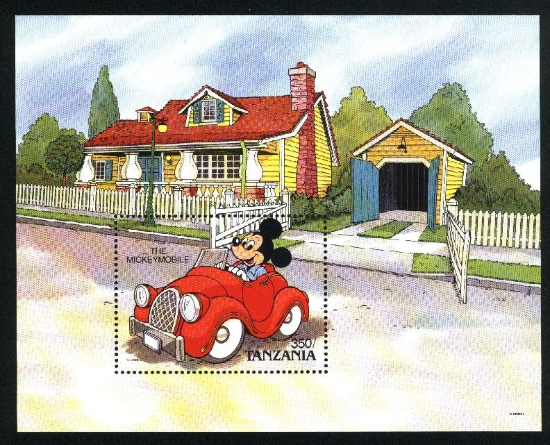 Tanzania 579   SS The mickey Mobile Mint NH VF 1990   PD