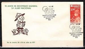 Brazil, 20/JUL/77. 70th Anniversary of Scouting Cancel on Cachet Envelope.