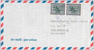 SAUDI ARABIA --  POSTAL HISTORY: AIRMAIL COVER to SWITZERLAND  - Shifted colurs