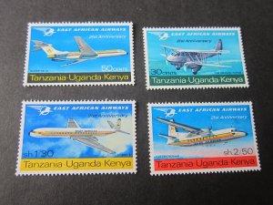 Kenya Uganda Tanganyika(KUT) 1967 Sc 172-75 airplan set MH