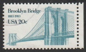 SC# 2041 - (20c) - Brooklyn Bridge, used single